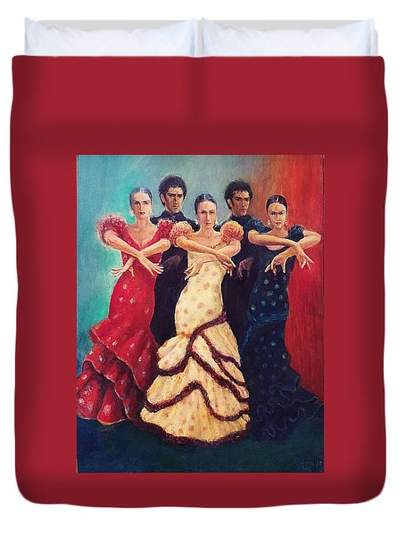 Flamenco Dancers 5 Duvet Cover