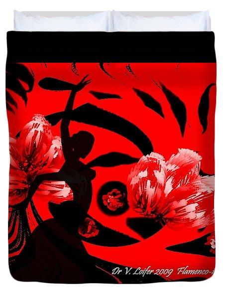 Flamenco-fairy Dance Duvet Cover