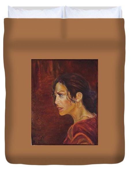 Flamenco Girl 1 Duvet Cover