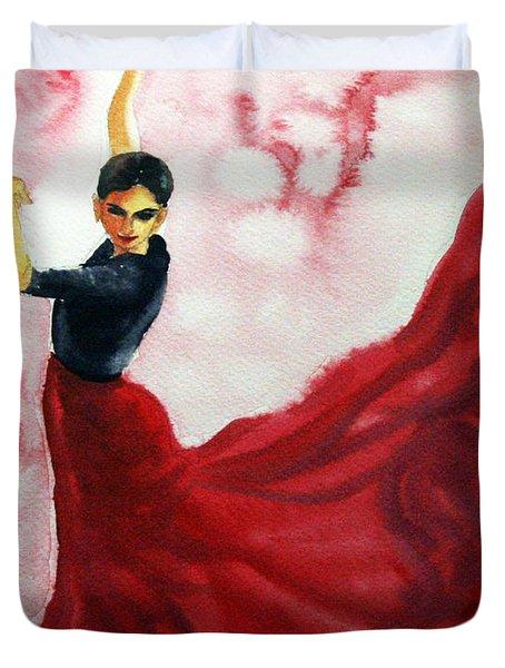 Flamenco Red Duvet Cover