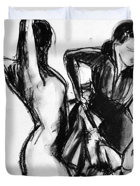 Flamenco Sketch 1 Duvet Cover