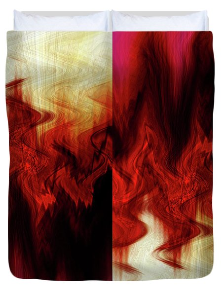 Flames Duvet Cover by Cherie Duran