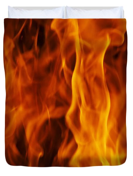 Flames Duvet Cover by Michal Boubin