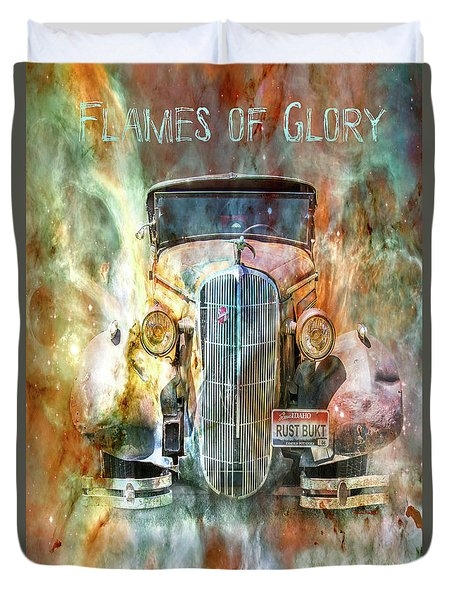 Flames Of Glory Duvet Cover