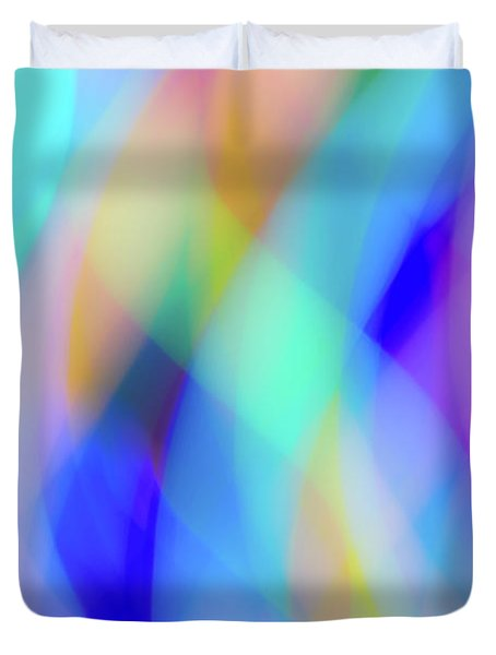 Flames Of Iridescence Duvet Cover