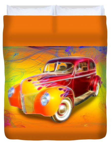 Flamin' '40 Duvet Cover