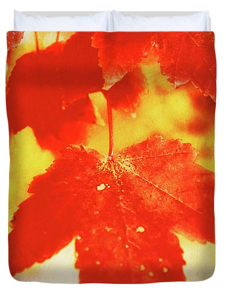 Flaming Autumn Duvet Cover