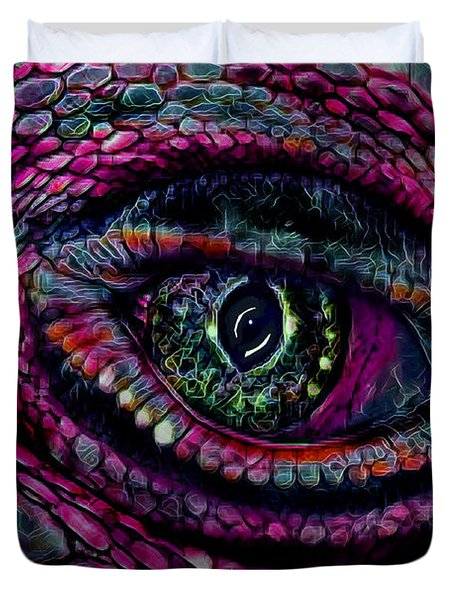 Flaming Dragons Eye Duvet Cover