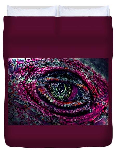 Flaming Dragons Eye Duvet Cover