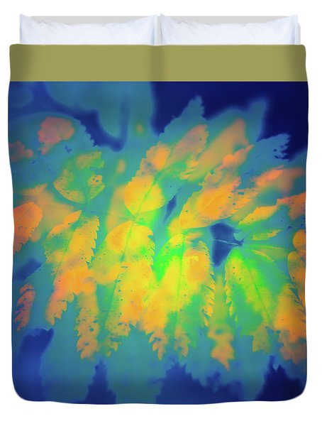 Duvet Cover featuring the photograph Flaming Foliage 2 by Ari Salmela
