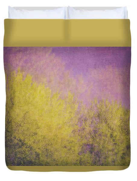 Duvet Cover featuring the photograph Flaming Foliage 3 by Ari Salmela