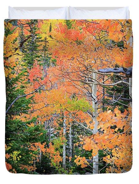 Flaming Forest Duvet Cover