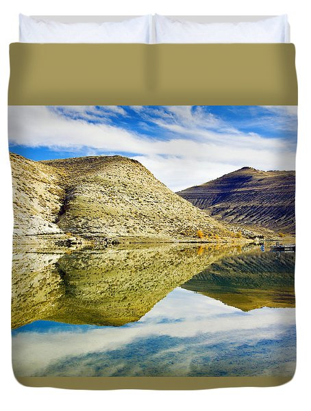 Flaming Gorge Water Reflections Duvet Cover