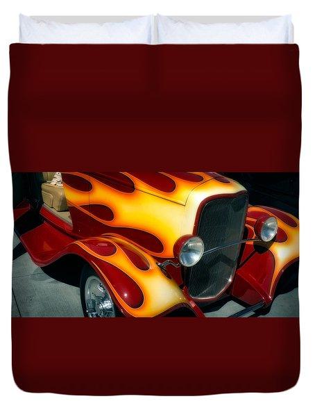 Flaming Hot Rod Duvet Cover