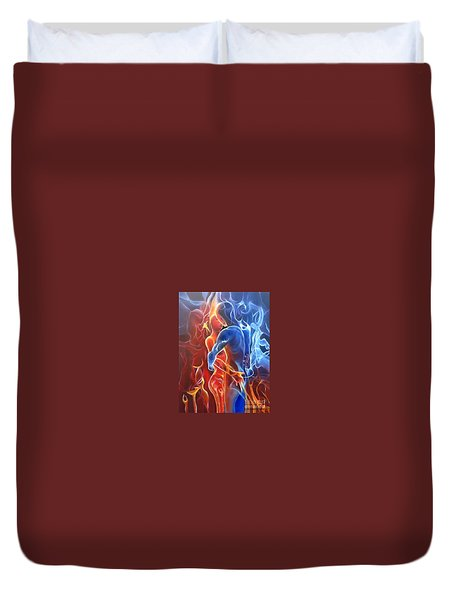 Flaming Lovers Duvet Cover