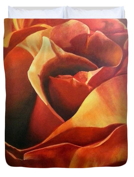 Flaming Rose Duvet Cover