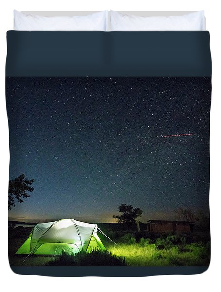 Flaming Sky Duvet Cover