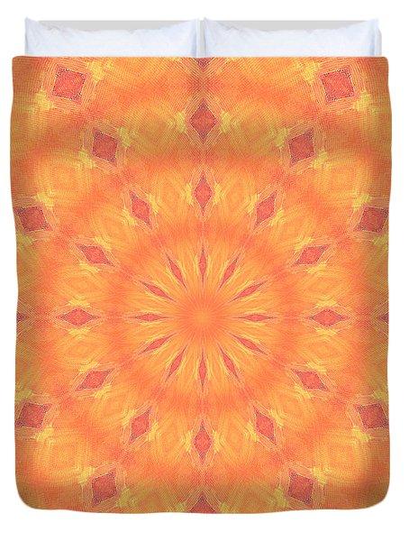 Flaming Sun Duvet Cover