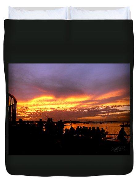 Flaming Sunset Duvet Cover