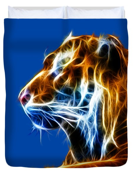 Flaming Tiger Duvet Cover