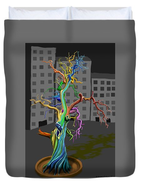 Flaming Tree Duvet Cover