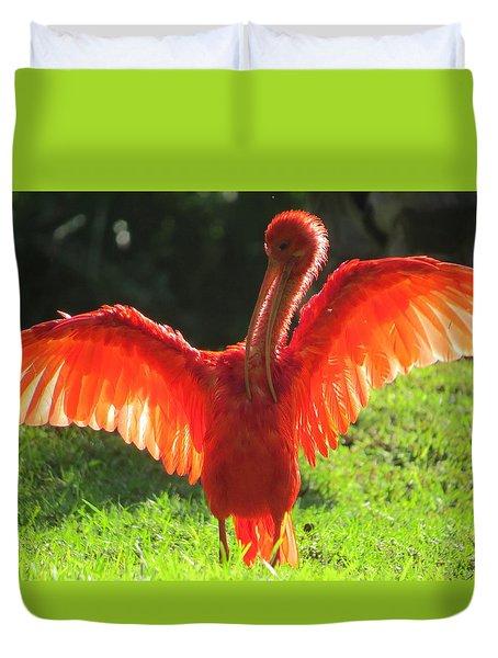 Flamingo Backlit Duvet Cover