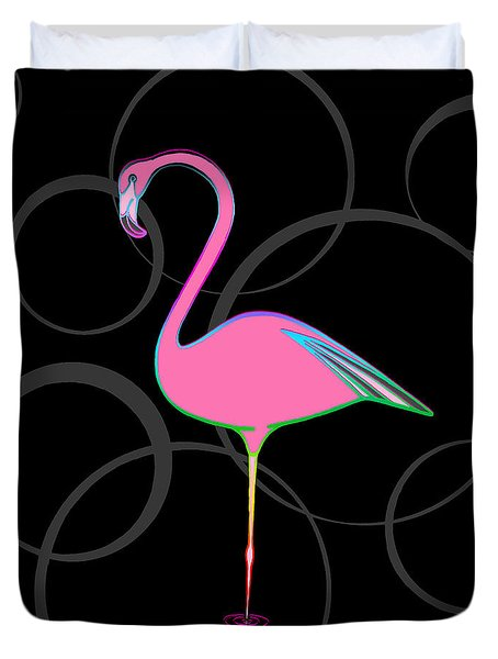 Flamingo Bubbles No 1 Duvet Cover