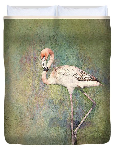 Flamingo Dancing Duvet Cover