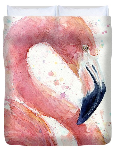 Flamingo - Facing Right Duvet Cover