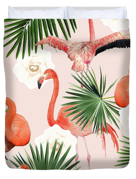 Flamingo Guava Duvet Cover