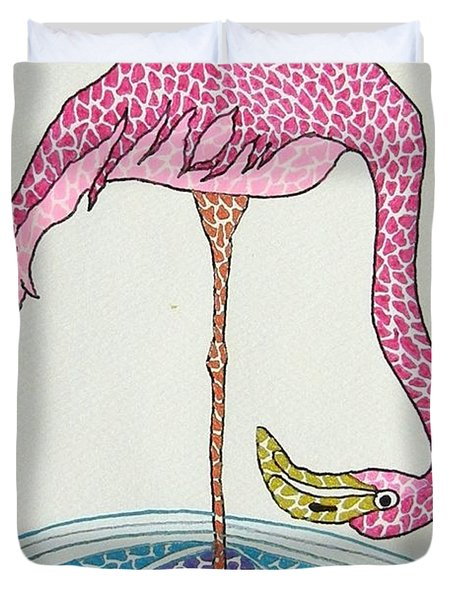 Flamingo I Duvet Cover
