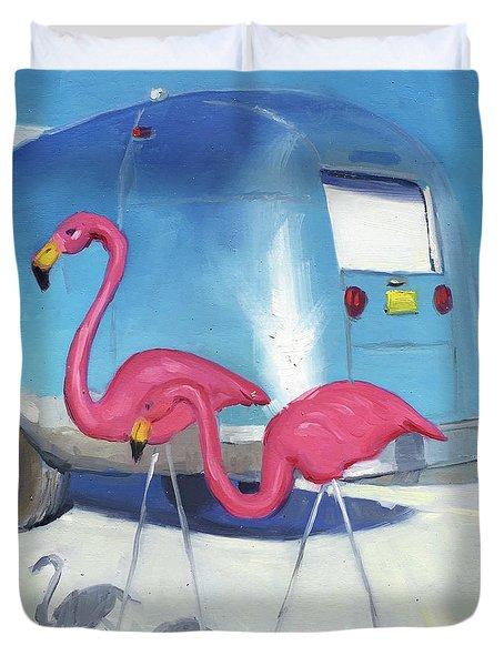 Flamingo Migration Duvet Cover