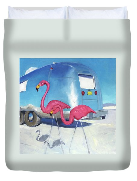 Flamingo Migration Duvet Cover