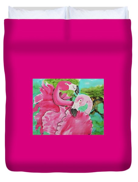 Flamingo Passion Duvet Cover