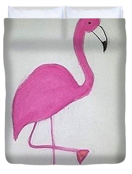 Flamingo Pink Duvet Cover