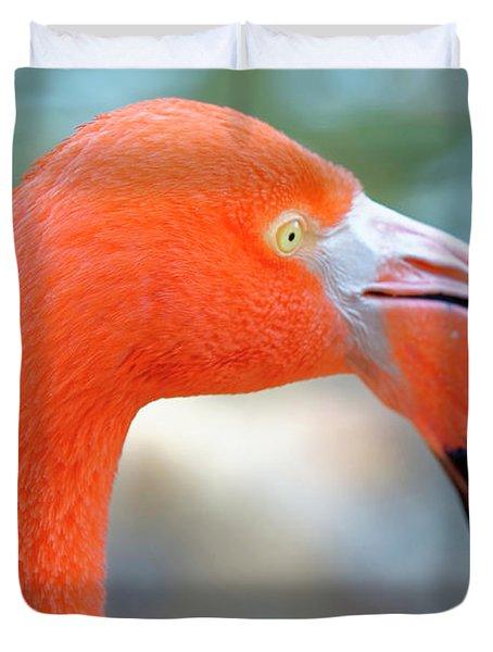 Flamingo Portrait Duvet Cover