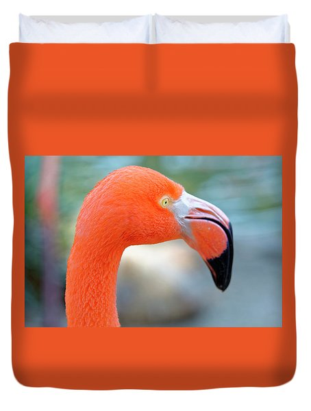 Flamingo Portrait Duvet Cover