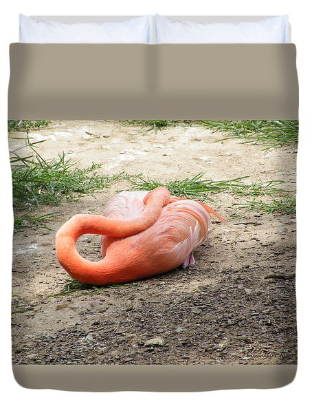Flamingo Sleeping Duvet Cover