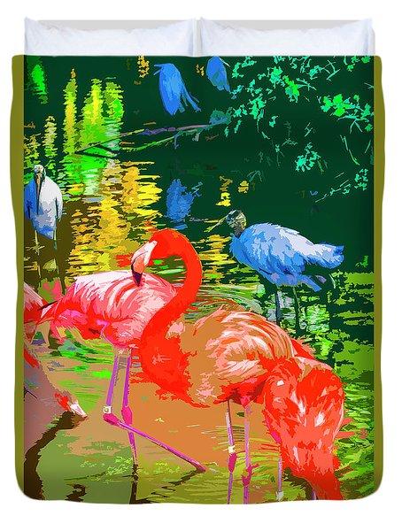 Flamingo Time Duvet Cover