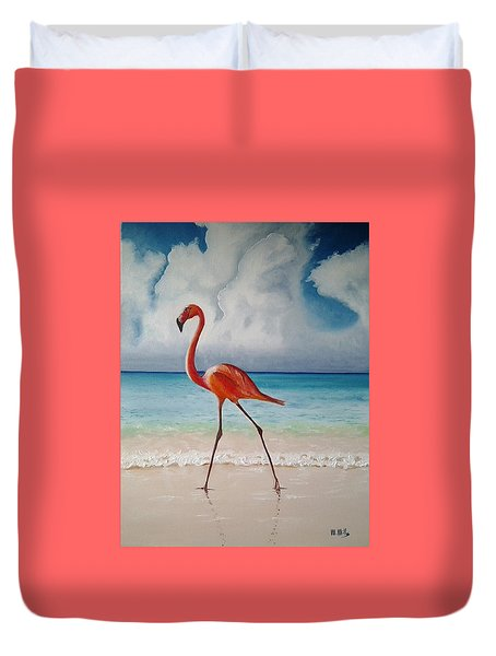 Flamingo Walk Duvet Cover