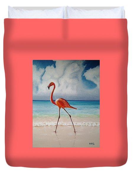 Flamingo Walk Duvet Cover