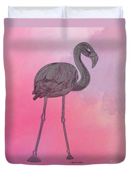 Flamingo5 Duvet Cover by Megan Dirsa-DuBois
