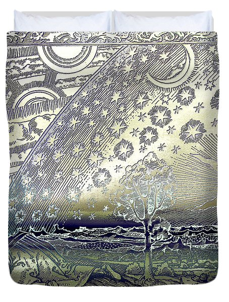 Flammarion Engraving Colored Duvet Cover