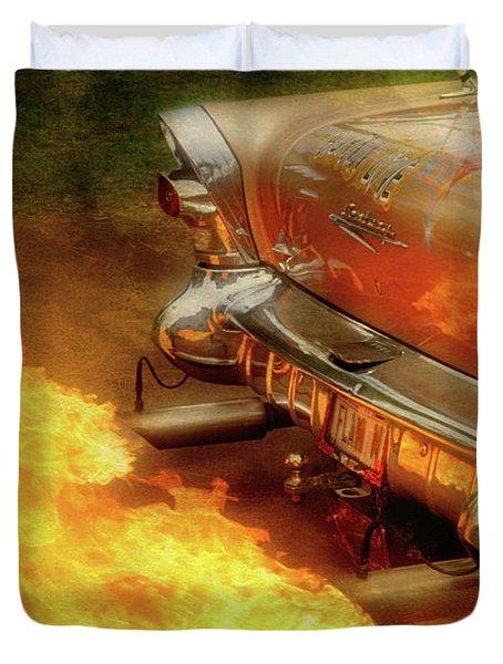 Flam'n Duvet Cover by Joel Witmeyer