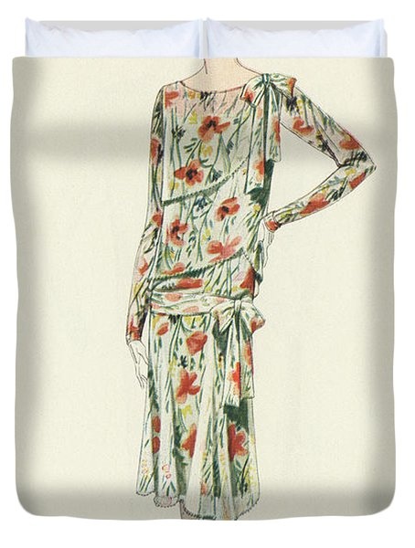 Flapper In An Afternoon Dress Duvet Cover