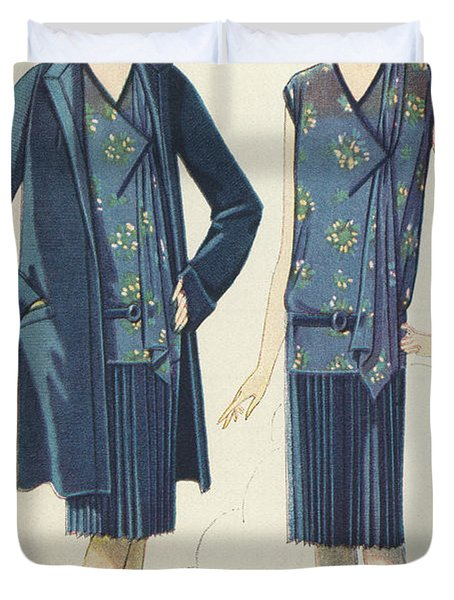 Flappers In Frocks And Coats, 1928  Duvet Cover