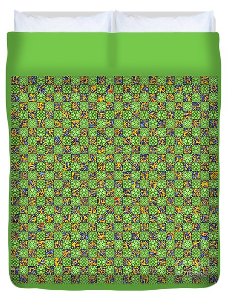 Flares, Squares And Ripples 3 Duvet Cover