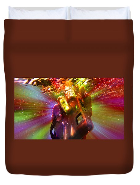 Flash Of Light Duvet Cover