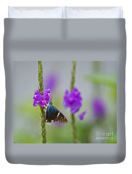 Flasher On Weed... Duvet Cover by Nina Stavlund