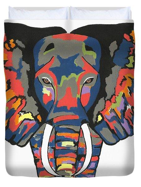 Flashy Elephant Duvet Cover